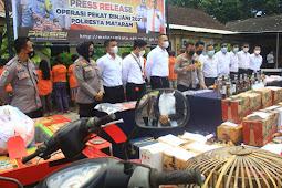 Polresta Mataram Ringkus 186 Tersangka dalam Operasi Pekat 2021