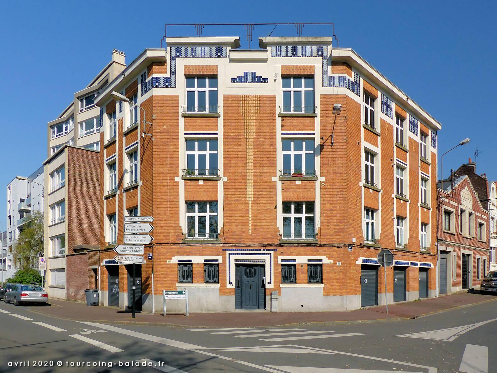 Immeuble style Art Déco, Marcq-en-Baroeul, 2020