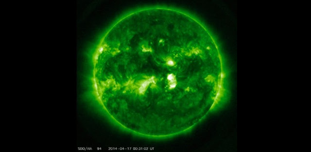Image: Plasma β in Apr. 17 (2014). Image in the solar corona at 171 A, Source: Solar Dynamic Observatory (SDO).