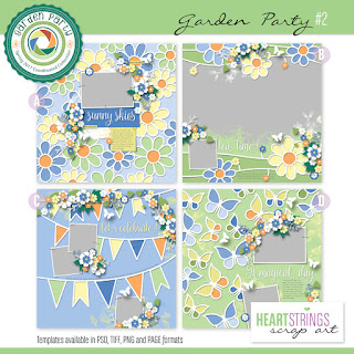 Garden Party templates from Heartstrings Scrap Art