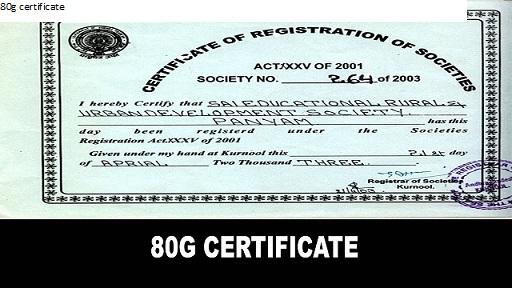 80g exemption list