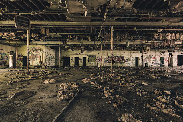 vacant open space business warehouse