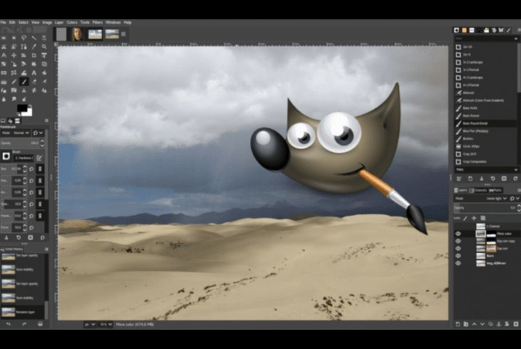 أقوى برنامج تحرير صور مجاني Gimp 2