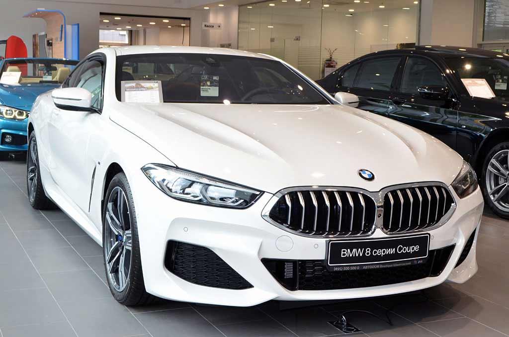 BMW 840d вид спереди