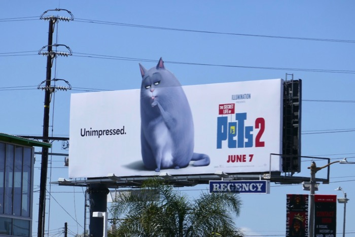 Secret Life Pets 2 Unimpressed billboard