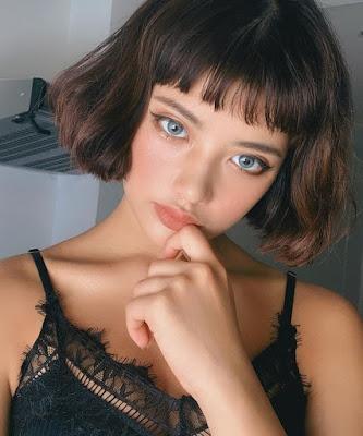 ideias de cabelo chanel com franja