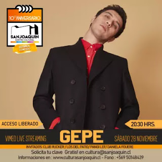 Gepe se suma a los conciertos en línea desde el Teatro San Joaquín