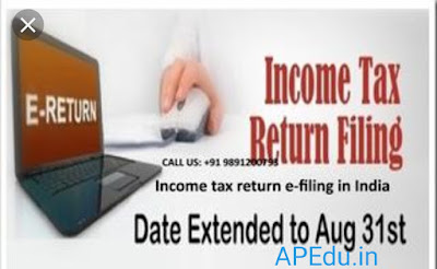 Income tax return date extend up to August 31