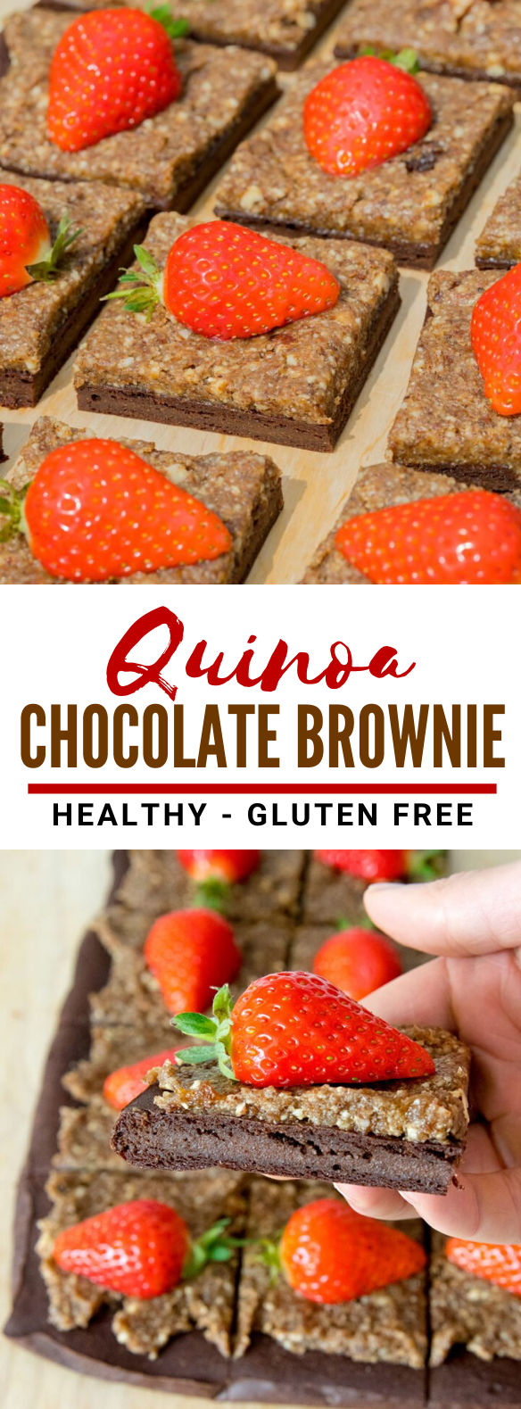 QUINOA CHOCOLATE BROWNIE – 4 INGREDIENTS RECIPE #fooddiet #glutenfree