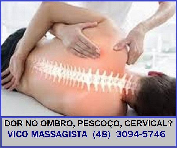 Vico Massagista - Quiropraxia, Massagem Terapêutica, Acupuntura e Massoterapia - para dores nas costas, coluna, lombares, nervo ciático - São José SC (48) 3094-5746