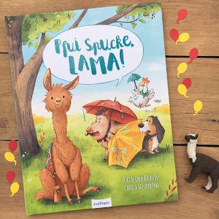 """""""Pfui Spucke, Lama!"""" von Katalina Brause, illustriert von Carola Sieverding, Esslinger Verlag, Rezension auf Kinderbuchblog Familienbücherei"""