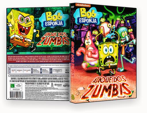 CAPA DVD – Bob Esponja Ataque Dos Zumbis DVD-R