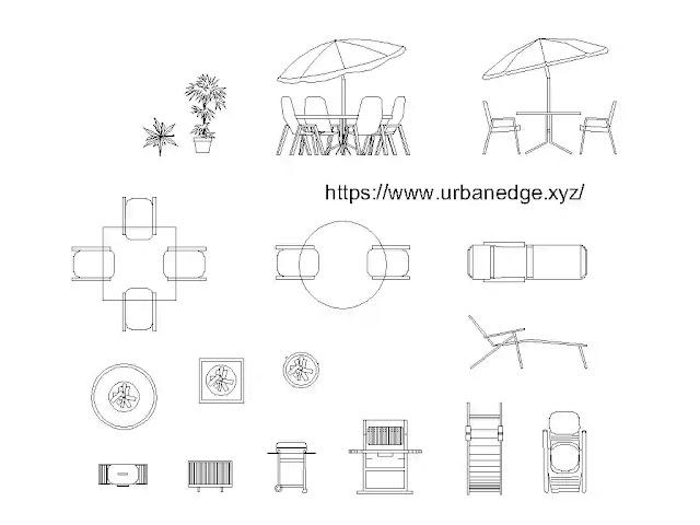 Outdoor furniture cad blocks download - 15+ Dwg furniture models