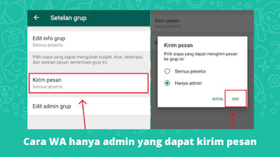 Cara Membuat Grup WhatsApp Hanya Admin Yang Dapat Mengirim Pesan