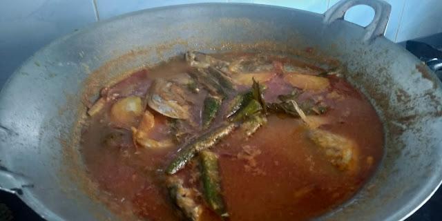 Asam pedas ikan temenung, asam pedas ikan kembung, resepi asam pedas melaka, resepi asam pedas melaka mudah dan sedap