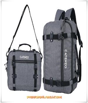 Tas Backpack Pria Warna Abu Laptop-In