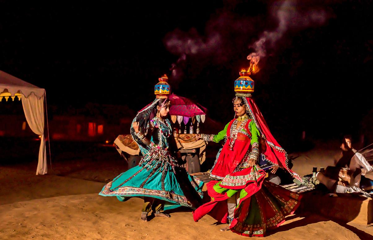 Rajasthani Folk dance in Sam Camps
