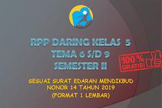 RPP Daring Kelas 5 Tema 6, 7, 8, 9 Semester 2