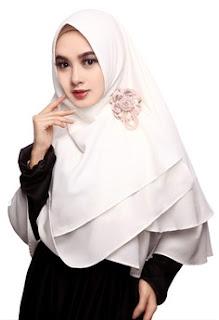 Jilbab Instan Warna Putih