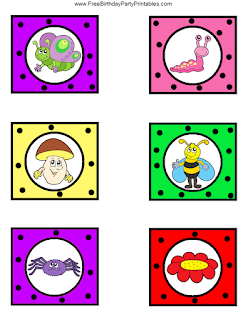 Free Bug Birthday Party Printables- Cupcake Toppers