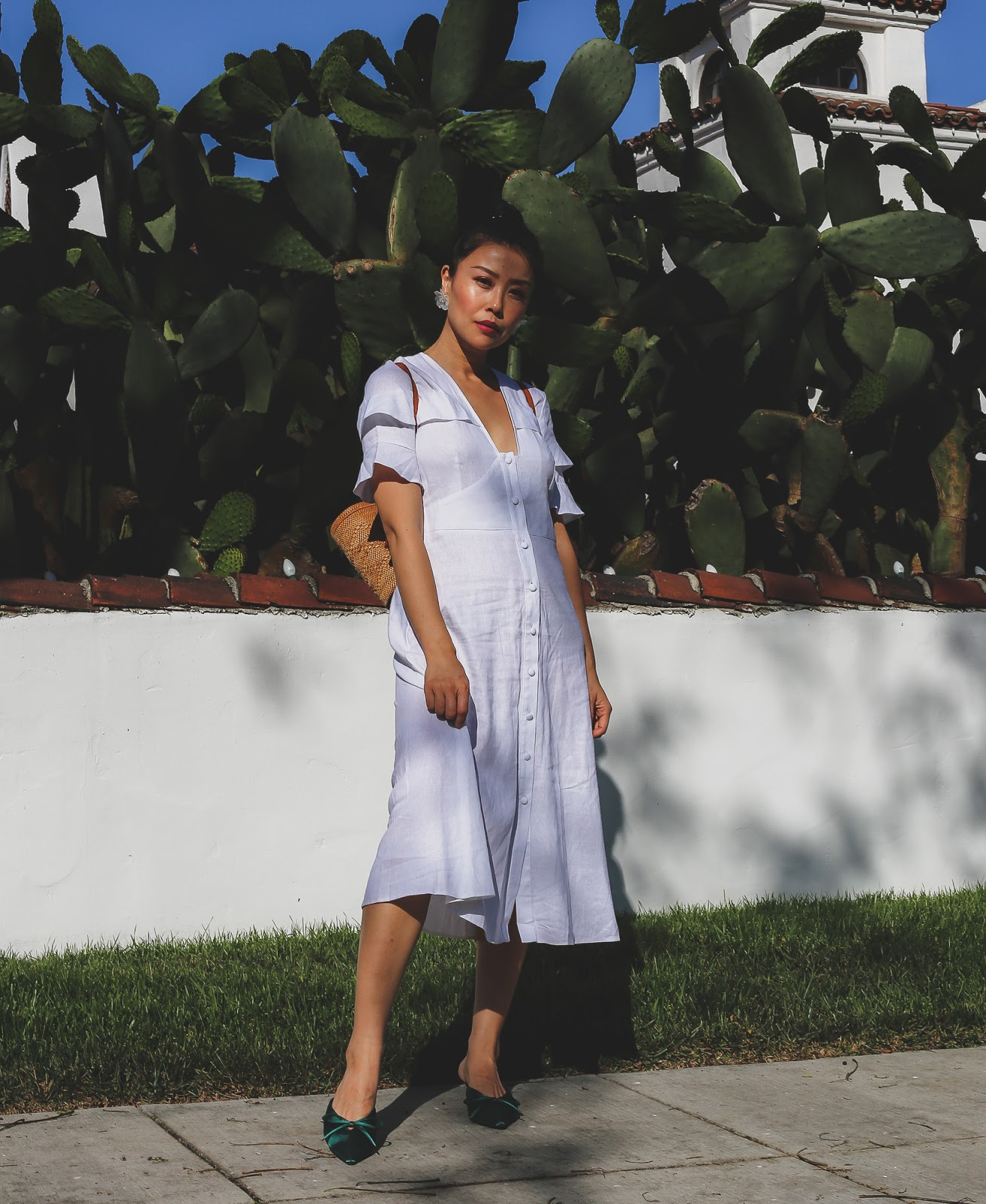 ASOS white midi dress