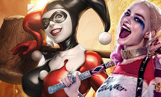 Harley Quinn and Margot Robbie