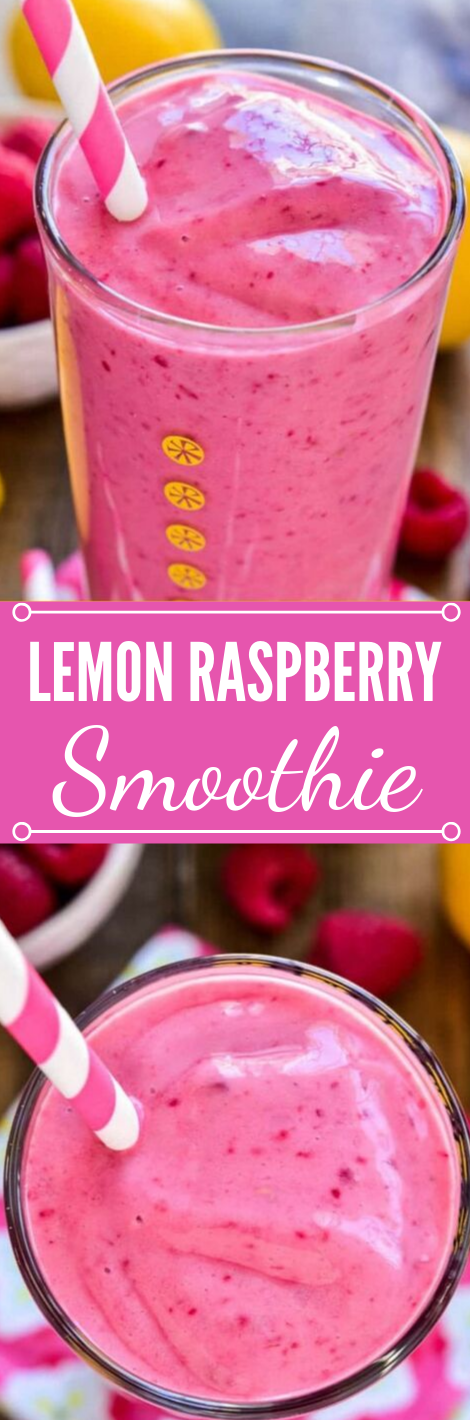 LEMON RASPBERRY SMOOTHIE #drink #raspberry #lemon #smoothie #party