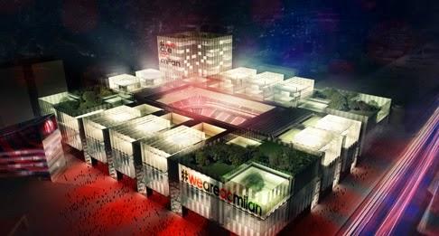 Imágen del futuro nuevo estadio del AC Milan