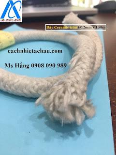 Dây sợi gốm Ceramic chịu nhiệt, chống cháy   Cách nhiệt Á Châu Tr%25C3%25B2n%2B12mm.1