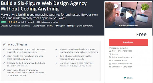 [100% Free] Build a Six-Figure Web Design Agency Without Coding Anything