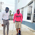 Photos of Davido's broken legs emerge online