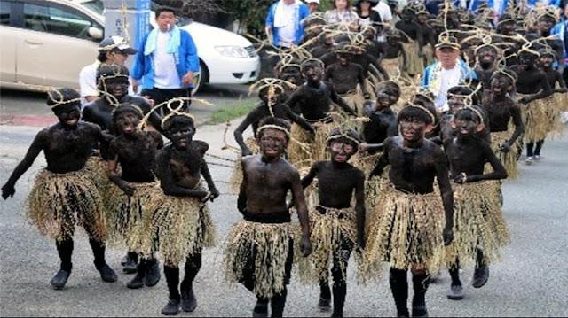 Parade Unik, Anak-anak Jepang Berdandan Seperti Orang Papua