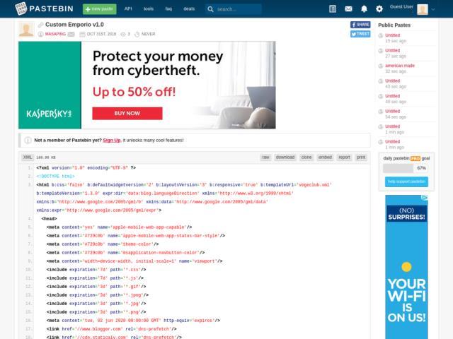 website berbagi script online pastebin