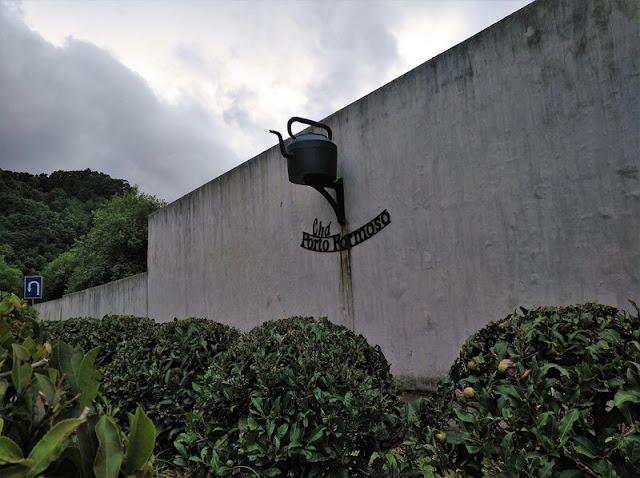 Entrada a la Plantación de Té de Chá Formoso en Azores