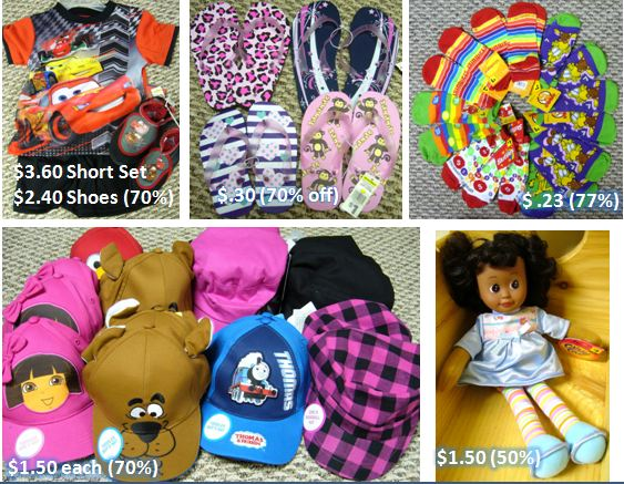 Dollar General clearance clothing for Operation Christmas Child shoeboxes.