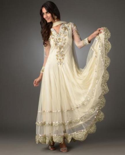 157374cc7bb97 Anarkali: Belde hafif oturan uzun elbise, salvar ve dupattadan olusuyor.  Elbisenin uzunlugu istege gore degisiyor kimisi bileklerinin ustune kadar  kimiside ...