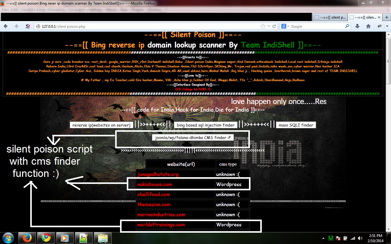 Silent Poison, bing based scanner | Start With Linux | Mannu