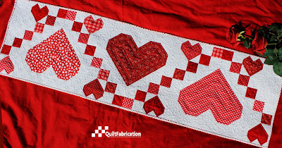 Sweetheart table runner by QuiltFabrication