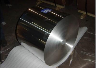 Bobina aluminio obtenida por laminación