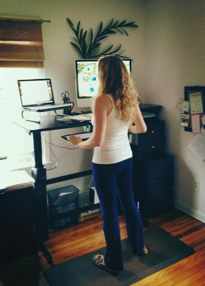 Center Your Health Stand Up Desk at Home  Work