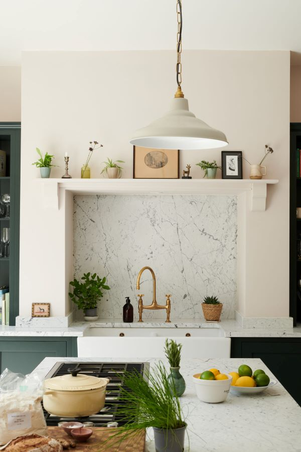 Love the diverse materials in this kitchen- designaddictmom