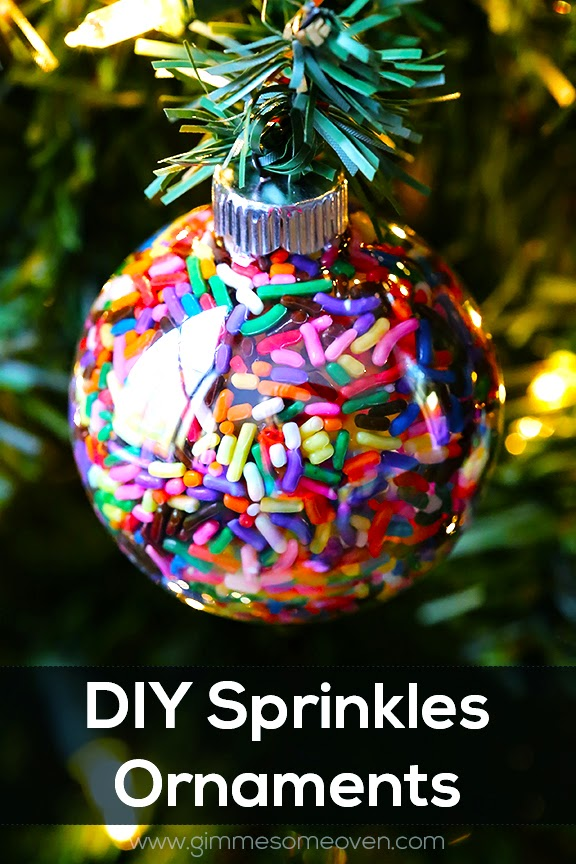 DIY SPRINKLES ORNAMENTS