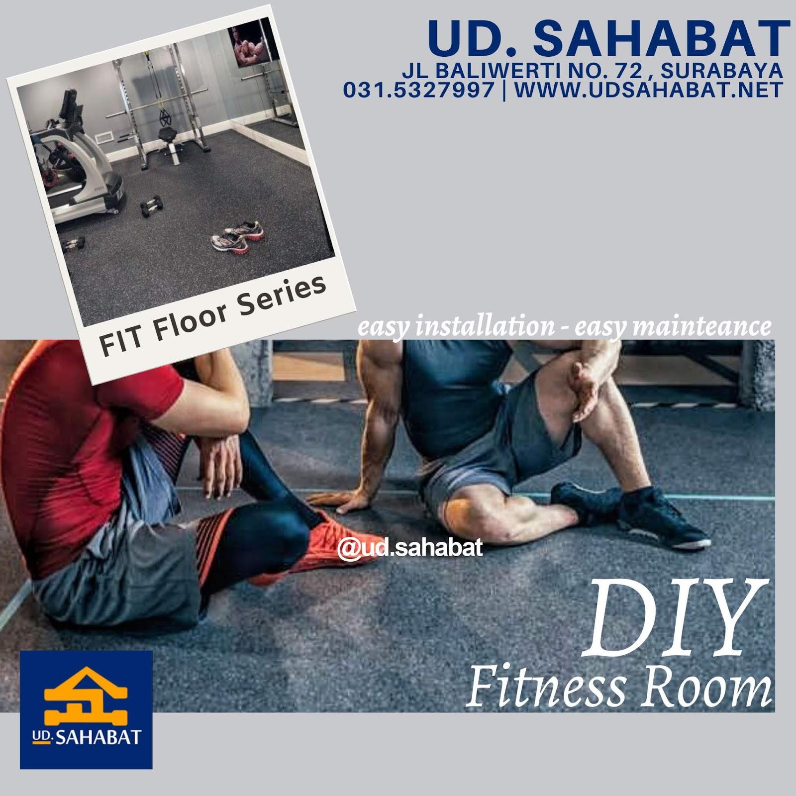 jual lantai ruang fitness gym ud sahabat baliwerti surabaya