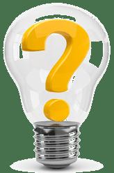 Лампочка с вопросом