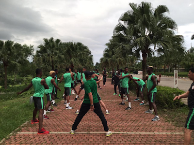 Photos: Super Eagles arrive in Uyo, train ahead of their AFCON 2019 Qualifier