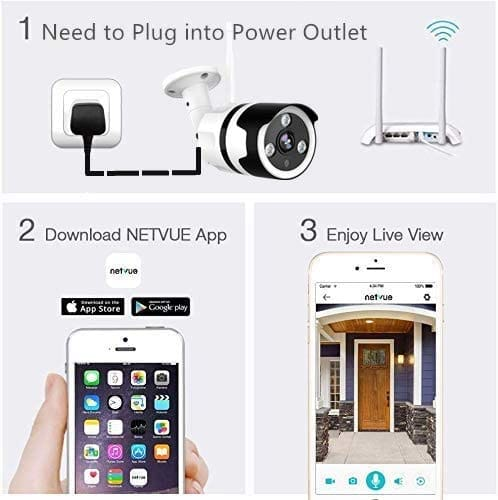 Review NETVUE Outdoor 1080P Security Camera