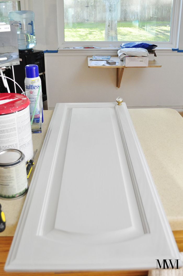 This DIY tutorial teaches you how to transform kitchen or bathroom cabinets with milk paint, which requires no sanding or priming. The results are gorgeous!