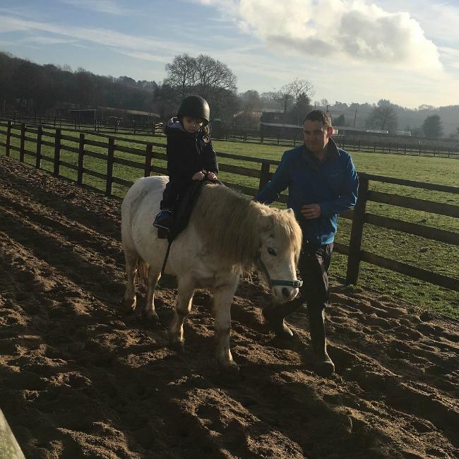 boy-riding-horse-at-Cefn-Mably-Farm-Park