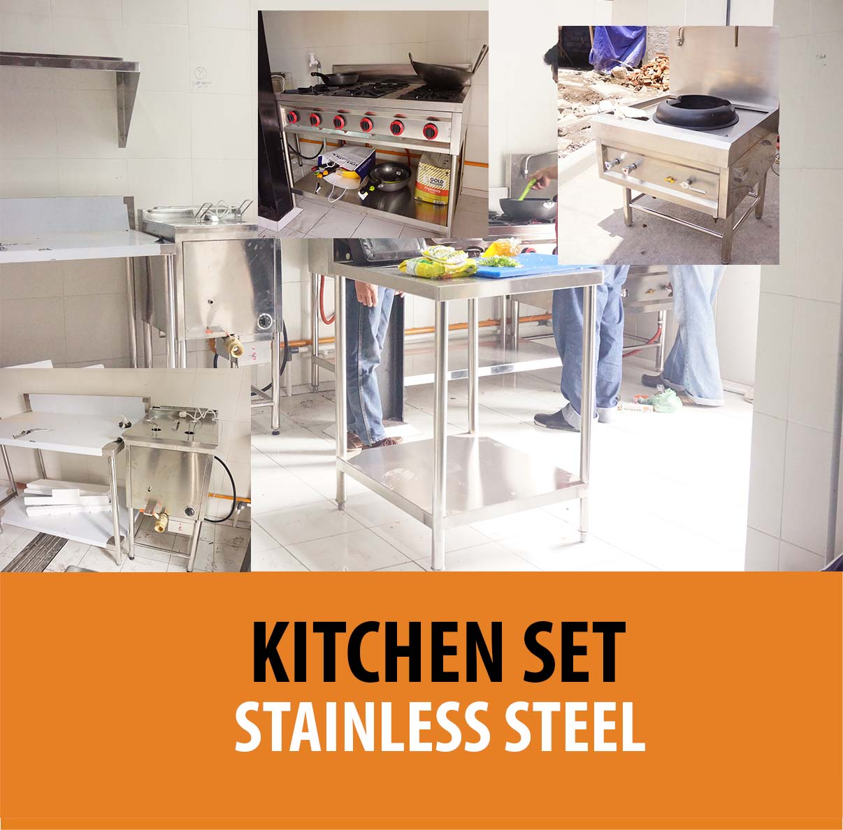 Harga kitchen set stainless per meter for Harga kitchen set per meter