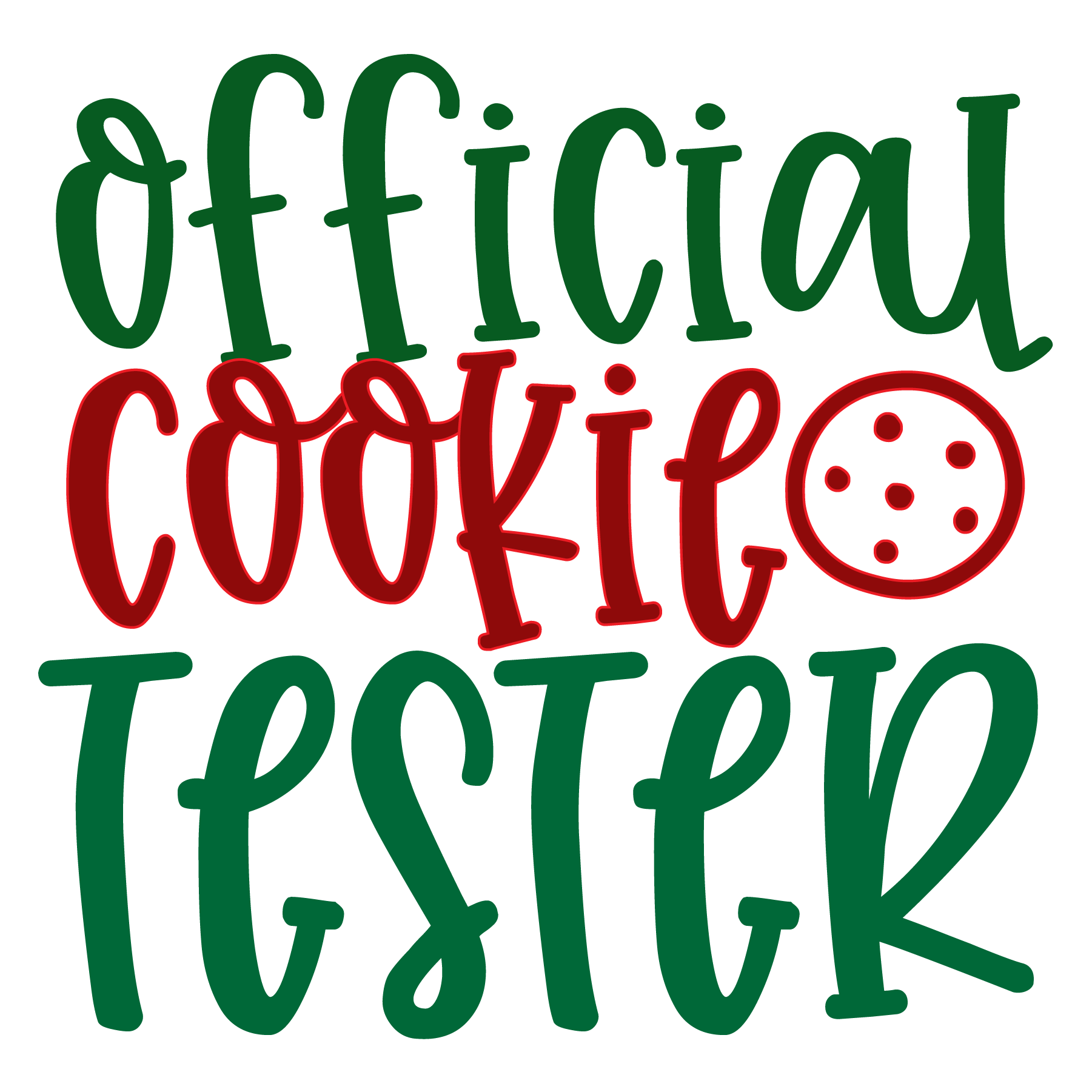 Official Cookie Tester SVG Cut Files